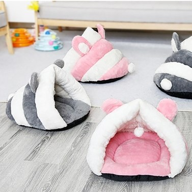 Pet Cat Dog Soft Warm Nest Kennel Bed Cave House Sleeping Bag Mat Pad Tent Pets Winter Warm Cozy Bed