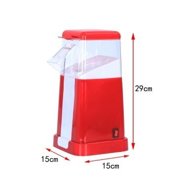 Elektrischer Heißluft-Popcorn-Popper mit oberer Abdeckung Elektrischer Popcorn-Hersteller Maschine Gesunder köstlicher Snack für Familienfeiern Leicht zu reinigen Sicher