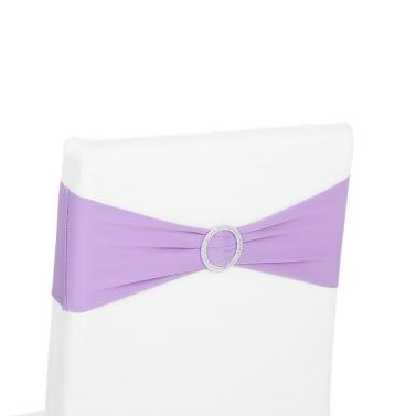 50PCS Hochzeitsdekorationen elastische Spandexstuhlabdeckung