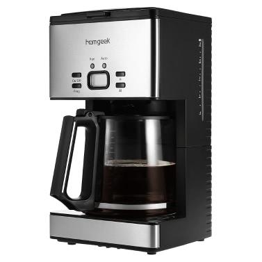 Homgeek High-End 1.8L Kaffeemaschine 15 Tassen Programmierbare Kaffeeautomat Kaffeeautomat mit Karaffe & Coffee Dosierlöffel