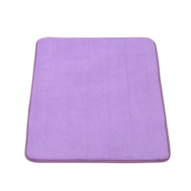 50 * 80cm Rectangular Soft Coral Fleece Bathroom Rug Non-slip Water Absorbent Shaggy Shower Mat Bathmat Bath Toilet Floor Rug Grey