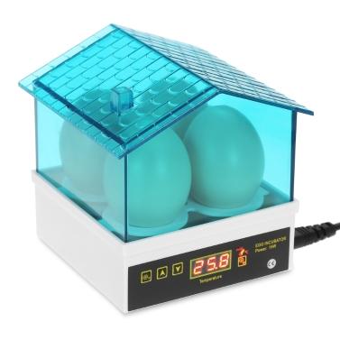 4-Eier Haushalt Mini Intelligente Automatische Eier Inkubator Temperaturregelung Hatcher für Ausbrüten Huhn Ente Vogel Wachtel Geflügel AC110V Us-stecker
