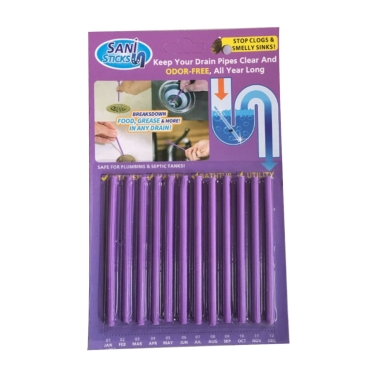 70% OFF 12/Pack Sani Sticks Keeps Drains And Pipes Clear,limited offer $1.39