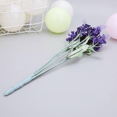 10er künstlicher Lavendel Seidenblumenstrauß