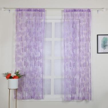 2Pcs 100*200cm Novelty Butterfly Pattern Decor Window Room Line Curtain Romantic String Tassel Door Curtain Divider Room Wall Decoration
