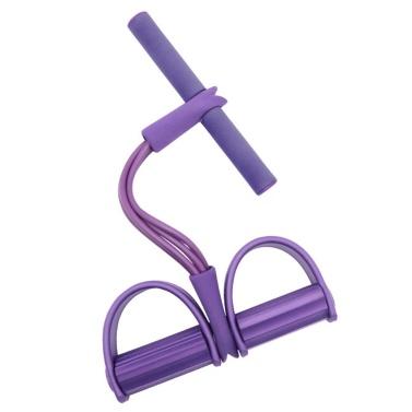 4-Rohr-Fußpedal-Widerstandsband Elastisches Sit-Up-Zugseil Multifunktionale Fitness-Übungsbänder