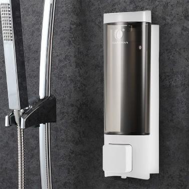 CHUANGDIAN Manual Hand Soap Dispenser Wall Mount Liquid Shampoo Shower Gel Dispenser Hand Cleanser Washroom Lotion Dispenser for Bathroom Restroom Hotel 200ml