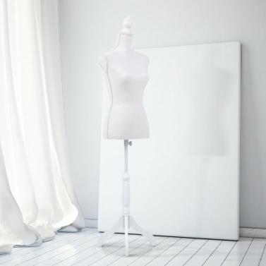 """IKayaa weibliche Mannequin Torso Kleid Form mit Holz Stativ Stand Pinnable Größe 34 """"26"""" 35 """""""