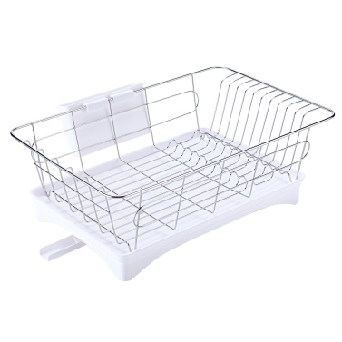 Stainless Steel Dish Rack with Drainage Outlet Storage Rack