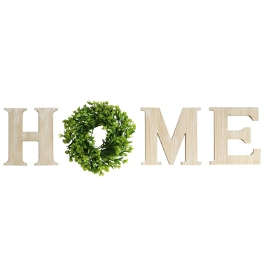 Wooden Domestic Use HOME Letters Wall-Mounted Decoration