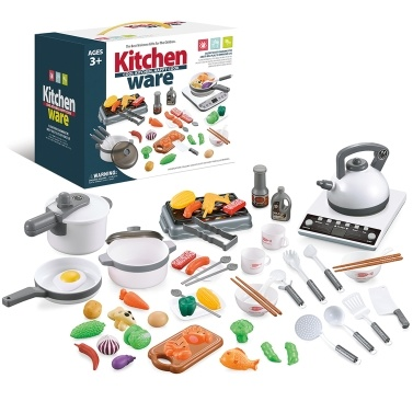 52PCS Kitchen Play Toy Kids Pretend Playset