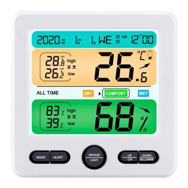 Digital Hygrometer Indoor Temperature Humidity Monitor