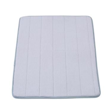 50 * 80cm Rechteckiger weicher Korallen-Vlies-Badteppich Anti-Rutsch-Wasser Saugfähige Shaggy Duschmatte Badematte Bad Toilettenboden Teppich Grau