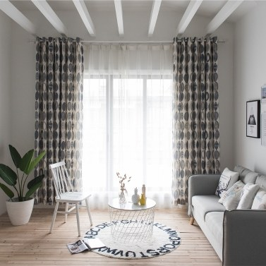 Fashionable Simple Circles Pattern Curtain