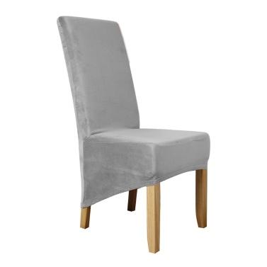 Silber fuchs einfarbig stuhlabdeckung stretch stuhl schutz rutschfeste abnehmbare waschbar für esszimmerstuhl hotel 4 stücke tiefe kamel