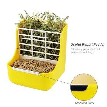 Rabbit Feeder Hay Feeder Haustiere Käfig Fixed Food Bowl für Meerschweinchen Chinchillas Andere Kleintiere