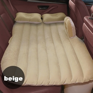 Car Travel Air Bed Inflatable Mattress Travel Sleeping Camping Cushion Back Seat Pads with Two Air Pillows