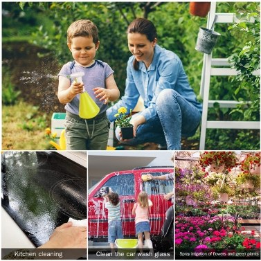 1300ML Electric Sprayer Watering Spraying Sprinkling Can Spray Bottle with Rechargeable 2000mAh Battery for Home Cleaning Gardening Watering