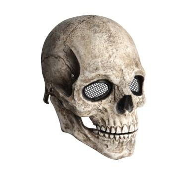 Movable Jaw Full Head Skull Mask Skeleton Mask Halloween Cosplay Scary Mask Horror Helmet for Halloween Festival Party Decoration