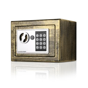 IKayaa Stahl Digital Elektronische Safe Box Schmuck Gun Security Keypad Lock für Home Office Hotel + Montage Kits