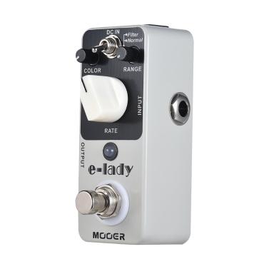 MOOER e-lady Analog Flanger Gitarre Effektpedal 2 Modi True Bypass Full Metal Shell