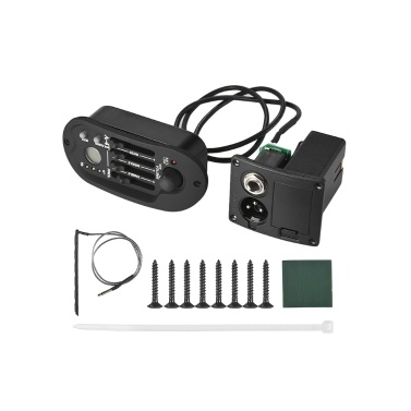Acoustic Guitar 4-Band EQ Equalizer Tone Volume Amplifier Preamp Piezo Pickup LCD Display