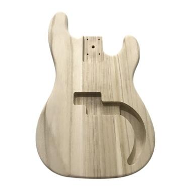 Polished Wood Type Electric Guitar Barrel DIY Electric Maple Guitar Barrel Body For PB Style Bass Guitar