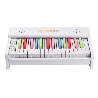 ammoon Desktop Wooden Piano Children Musical Instrument Toy
