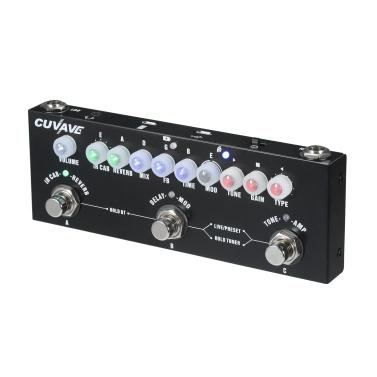 CUVAVE CUBE BABY Tragbare multifunktionale E-Gitarre Kombiniertes Effektpedal mit drahtloser Musikwiedergabe Telefonaufnahme Audio-Interface-Funktion