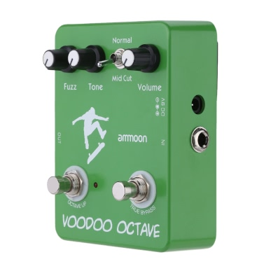 ammoon AP-12 Voodoo Octave Fuzz Effekt Guitar Effect Pedal True Bypass