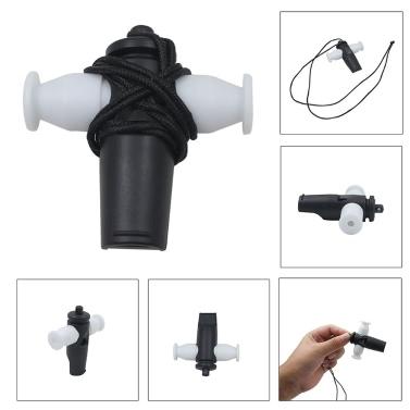 Brazil Latin Music Samba Whistle Tri-Tone Plastic White/ Black Color Musical Instrument Gift