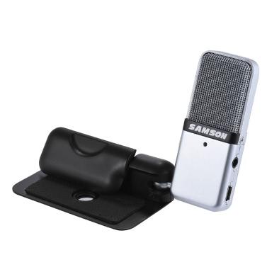 Samson GO Mic Mini Portable Recording Condenser Microphone Clip-on Design