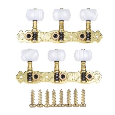 Alice AOS-022V1P 2ST (L & R) Hochgradige Goldbeschichtete akustische klassische Gitarre Mechaniken Tuning Keys Pegs String Tuners