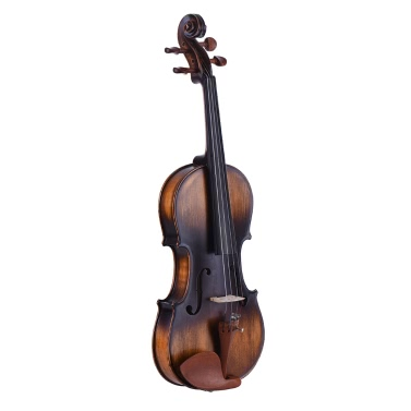 ammoon 4/4 Full Size Violin Matte-Antique Spruce Top Jujube Wood Parts(Peg Tailpiece) High Quality Rosin Cleaning Cloth Bridge Violin Strings