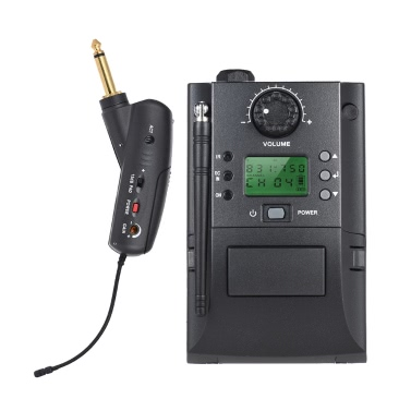 Portable UHF Instrument Wireless Microphone System Receiver & Transmitter 32 Channels Electric Guitar