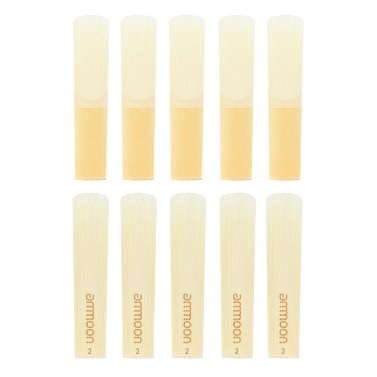 ammoon High Grade Eb Alto Saxophone Sax Bamboo Reeds Strength 2.0, 10pcs/ Box