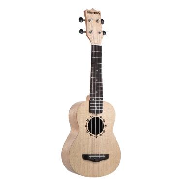 Ammoon Sopran Ukulele 21 Zoll Platanus Körper Palisander Griffbrett Hawaiian Guitar Ukulele Set mit Tuner Tasche Strap Extra Nylon String Picks Reinigungstuch