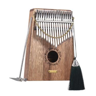 17-key Kalimba Thumb Piano Mbira Sanza Swartizia Spp regalo de madera maciza