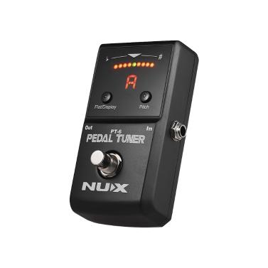 NUX PT-6 Chromatische Tuner Pedal Unterstützt Flat & A4 Tuning LED Display Vollmetallgehäuse