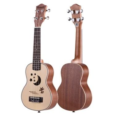 62% OFF 21 Inch Acoustic Soprano Ukulele,limited offer $38.99