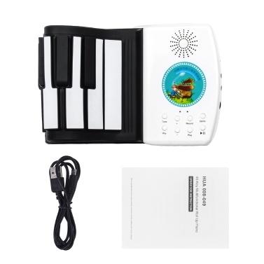 Multifunctional  49 Keys Digital Piano Portable Roll Up Piano