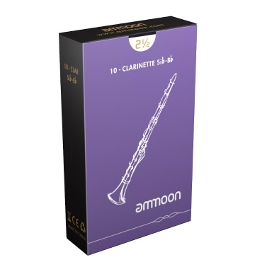 ammoon Woodwinds Bb Clarinet Traditional Reeds Strength 2.5, 10pcs/ Box