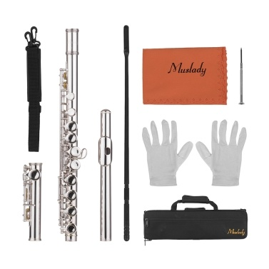 Muslady 16 Holes Closed Hole Flute C Key Flutes
