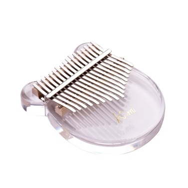 17-Key Kalimba Thumb Piano Transparent Acrylic Material with Carry Bag Musical Note Stickers Tuning Hammer Cleaning Cloth Musical Gift