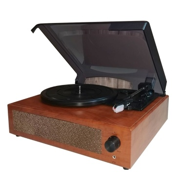 Portable Gramophone Vinyl Record Player Vintage Classic Turntable Phonograph with Built-in Stereo Speakers
