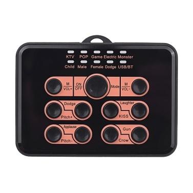 Multi-fonctionnel Universal Live Sound Card Voice Changer 8 effets sonores pour téléphone mobile et ordinateur (Édition Standard)