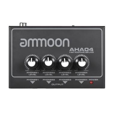 ammoon AHA04 Portable 4-Way Headphone Amplifier Amp