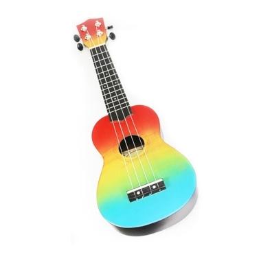 21 Zoll Kids Wooden UKulele 4 Saite tragbares Gitarreninstrument