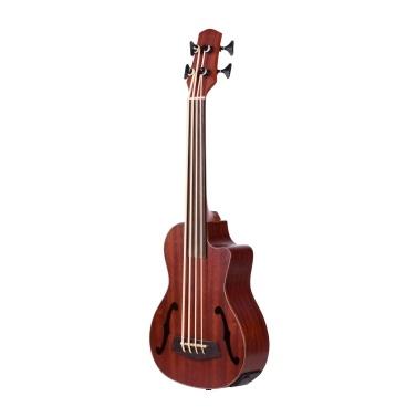 30 Inch Cutaway U-Bass UBass Wooden Electric Acoustic Bass Ukulele