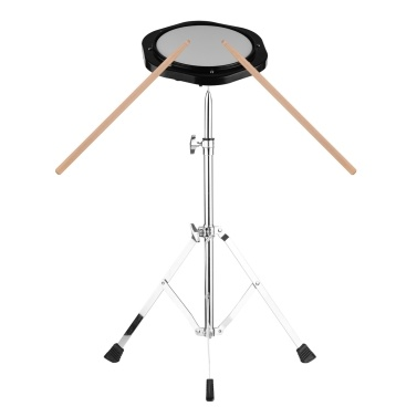 8 Inch Dumb Silent Drum Set Percussion Instrument 8mm Screw Connector 79-120cm Adjustable Height